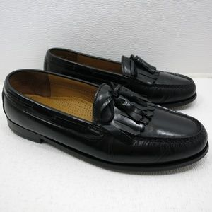 Cole Haan Shoes - Cole Haan Kiltie Black Leather Loafers 9.5 D
